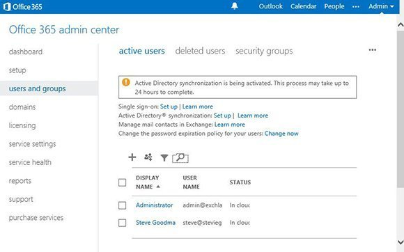 Using the new DirSync version to sync passwords in Office 365