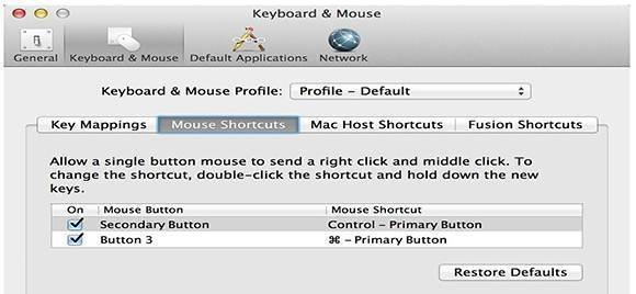 VMware Fusion 5 mouse settings