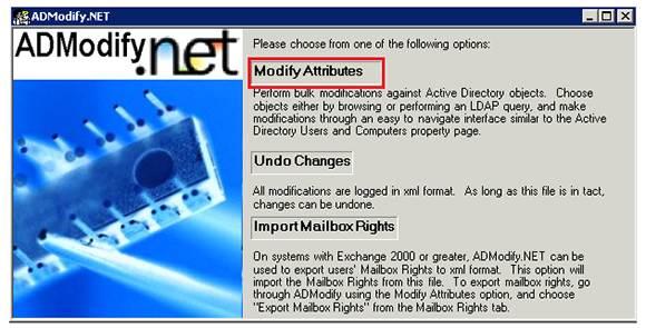 The ADModify.net tool