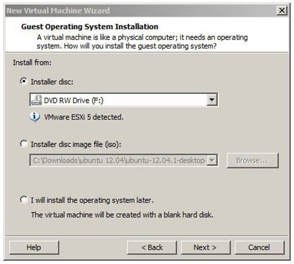 Create an ESXi host VM in Workstation 9.