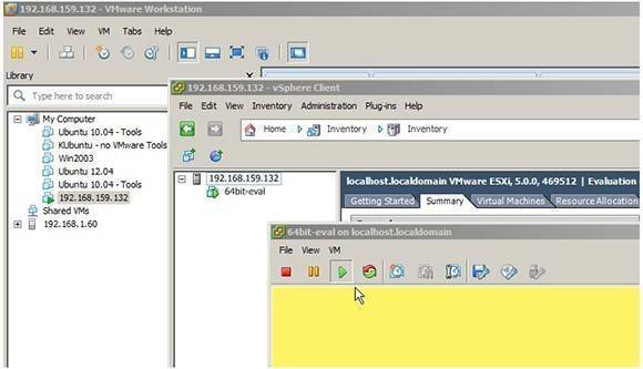 Nested OS virtualization in Workstation 9.