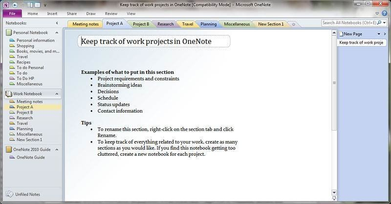 how to create a new notebook in onenote