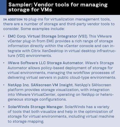 VM storage tools