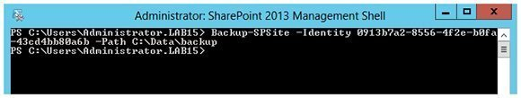 PowerShell Backup SPsite command