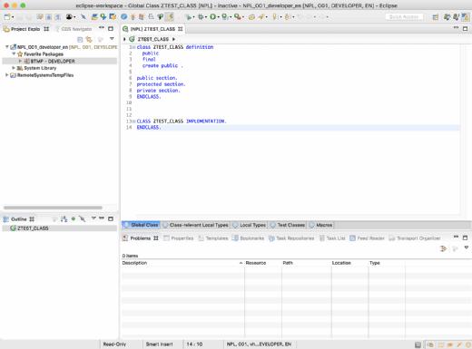 ABAP Class in Eclipse
