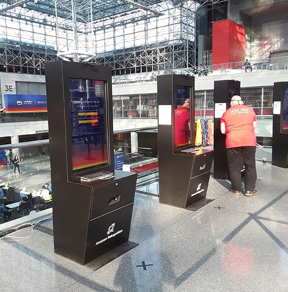 AWS Summit Rekognition kiosks
