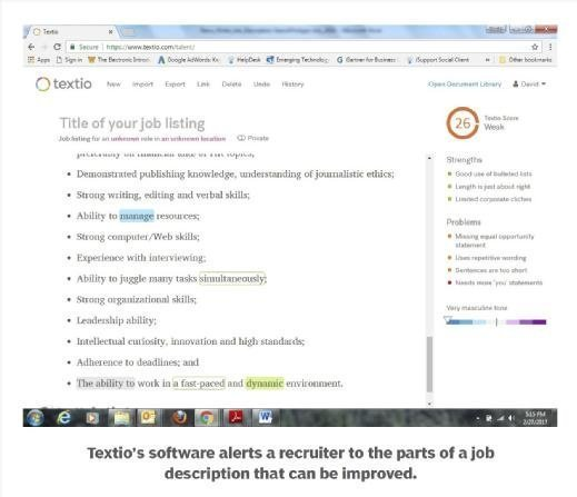 Textio software in action