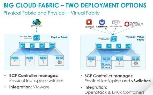 Die zwei Einsatzszenarien für die Big Cloud Fabric.