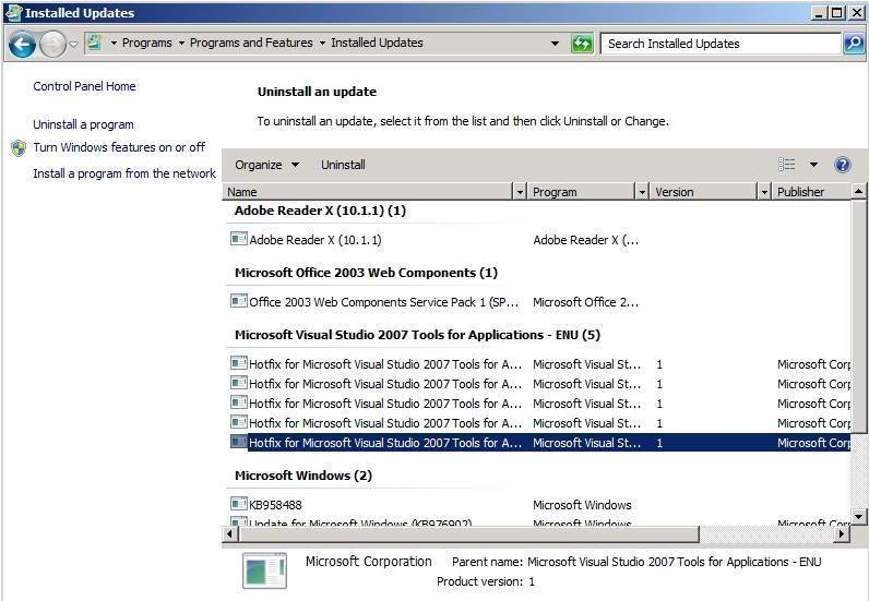 Removing a bad patch using Microsoft Windows Server Update