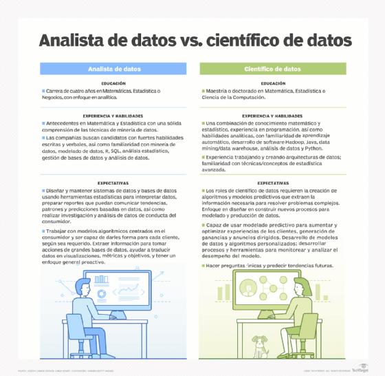 Científico de datos vs analista de datos: Un análisis visual