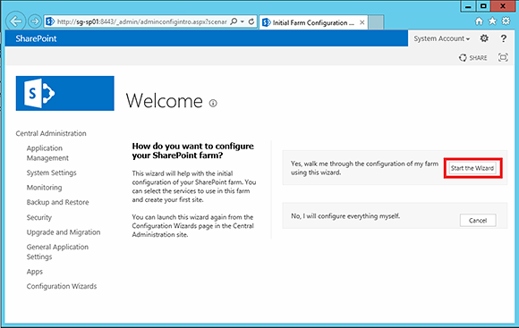 Begin managing your SharePoint 2013 farm