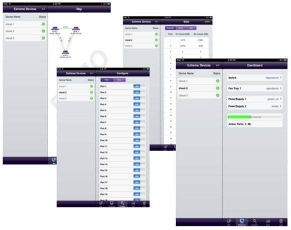Extreme Networks Inc  offers mobile network management app