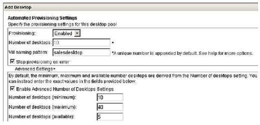 Automated Provisioning Settings