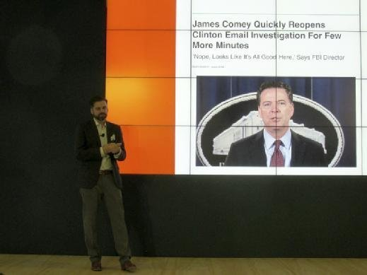 The Onion CEO Mike McAvoy discusses the value of satire and how his news outlet aims to debunk fake news.