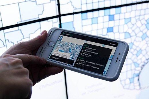 IBM PAIRS Geoscope app