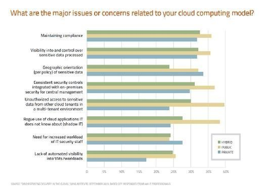 What are the major issues or concerns related to your cloud computing model?