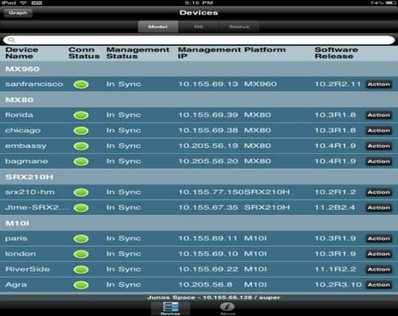 SolarWinds Orion NPM network management app