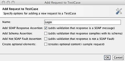 Figure 13: Add Request to TestCase dialog.