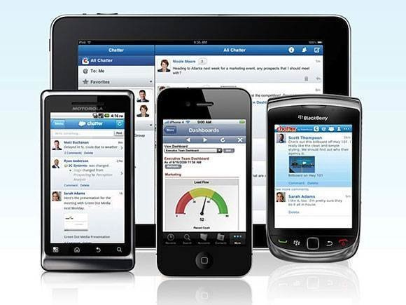 Salesforce.com's mobile CRM user interface