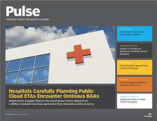 - PS0918 - Cloud in healthcare rises above privacy, compliance pressures