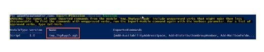 Using PowerShell for Exchange Online.