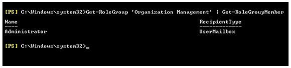 Use PowerShell to view the members of a specific role group
