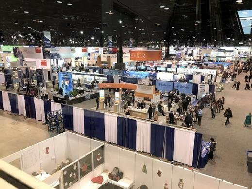 The RSNA 2017 exposition floor at the McCormick Place conference center in Chicago.