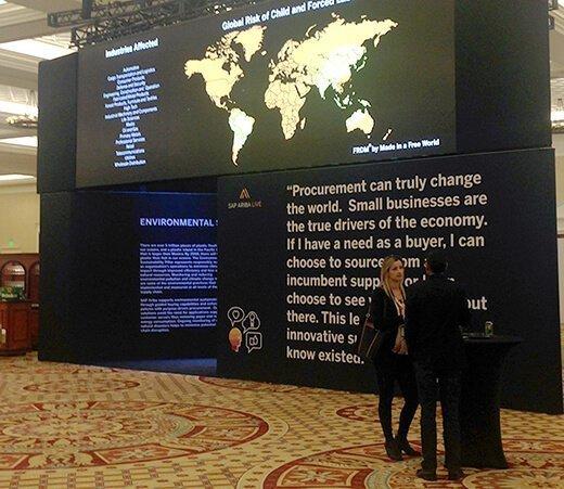 SAP Ariba Live 2018 conference exhibit