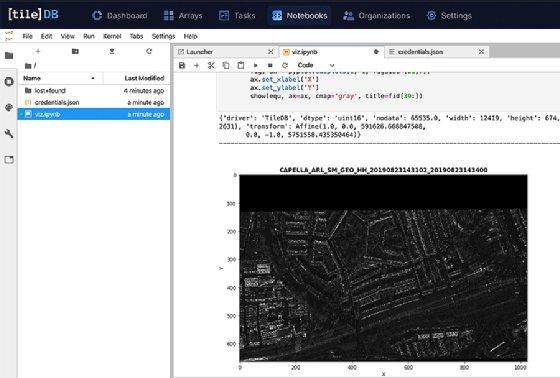 TileDB database with arrays
