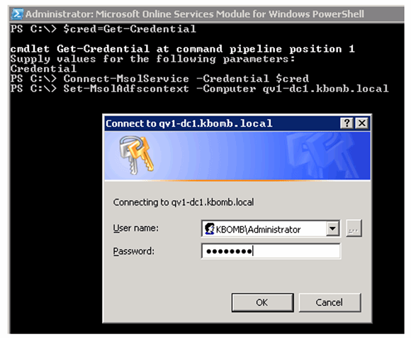 Connect PowerShell to Active Directory Federation Services