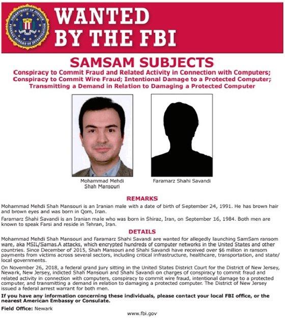 Tersangka ransomware SamSam