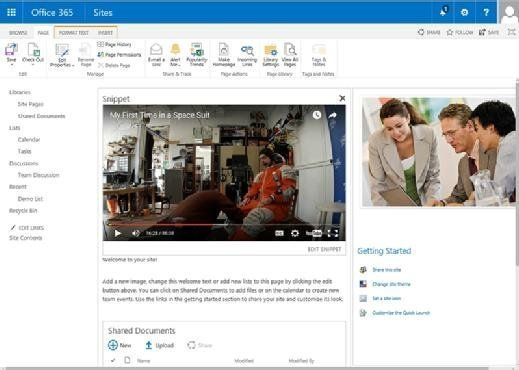 Adding a video in SharePoint