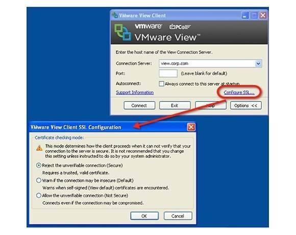 VMware View Client configuration