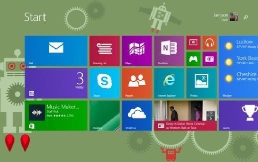 Windows 10 tablet start screen