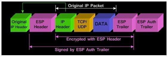 What IPsec transport mode does to IP packets