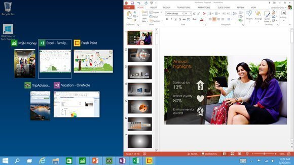 Snap View in Windows 10