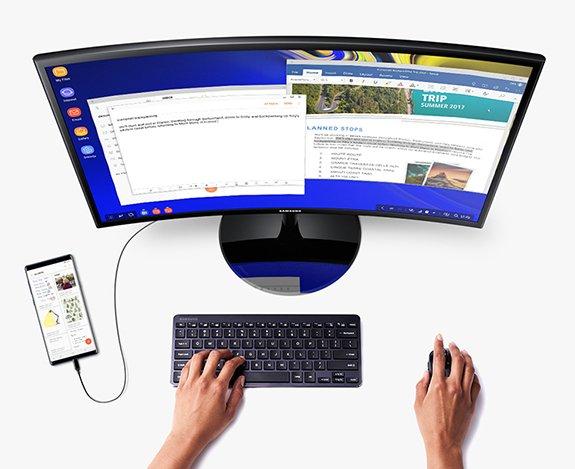 Abbildung 4: Ein Samsung Smartphone mit DeX als Thin Client.