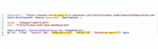 Use code to install SSM with a Windows Server agent.
