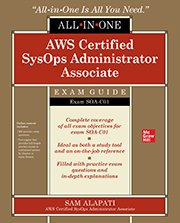 Book cover: AWS Certified SysOps Administrator Associate Exam Guide