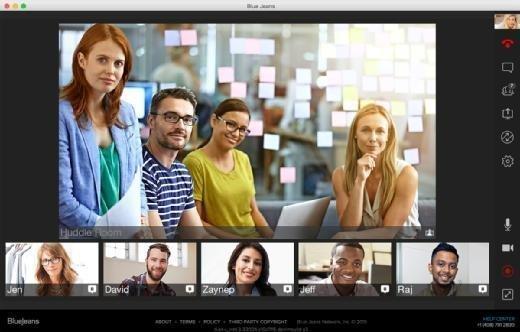 video meetings user interface