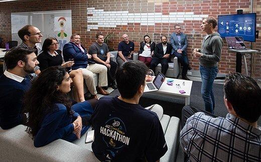 Staff meeting at IBM Garage in Melbourne