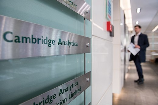 Cambridge Analytica reportedly improperly harvested Facebook user data for purposes of influencing elections