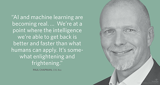 Paul Chapman, CIO at Box, talks up machine learning use cases and touch-talk-text interfaces