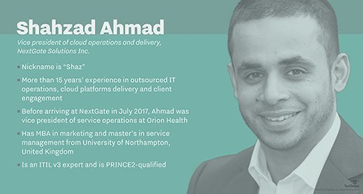 Shahzad Ahmad, vice president of cloud operations and delivery, NextGate Solutions Inc.
