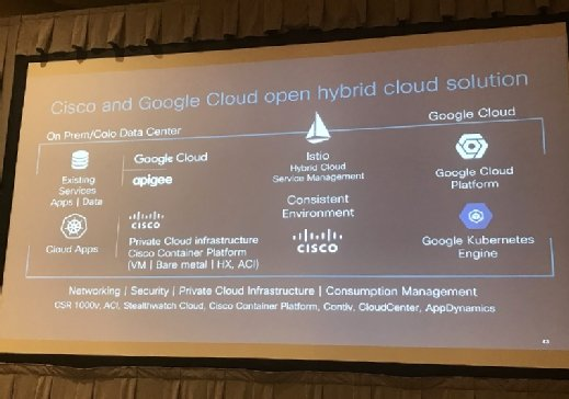 Cisco and Google cloud roadmap