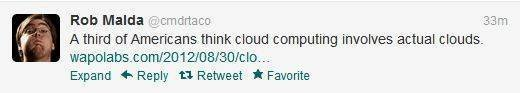 Cloud computing tweet