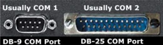 DB-9 and DB-25 COM ports