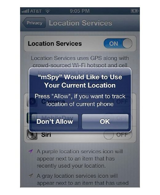 Turning on location services.