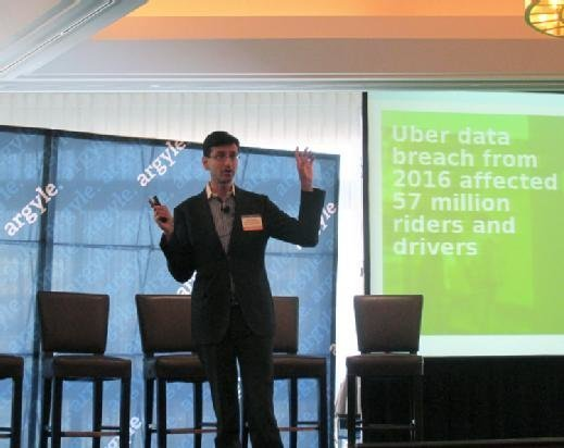 Rick Kamal, CTO at Harvard Business School, speaks at the Argyle 2017 Information Technology and Security Forum in Boston on Thursday.