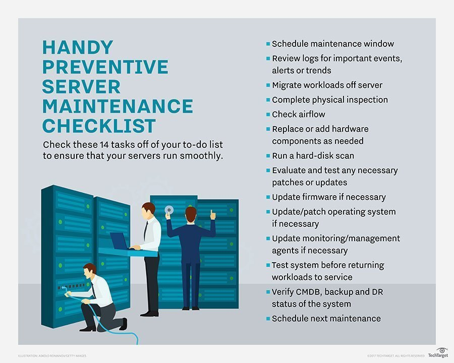 A handy server maintenance checklist for modern data centers